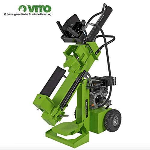 VITO Professional HEAVY DUTY Benzin Holzspalter 12 t mit 3 Arbeitspositionen: stehend, schräg und liegend arbeiten EURO 5 max L 52cm D 30cm - 12 Tonnen